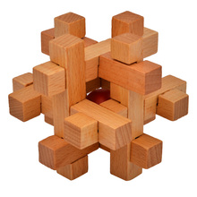 Intelligence KongMing Luban Locks Old China Ancestral Locks Traditional 3d Wooden Brain Teaser Puzzle Educational Toys For Kids(China (Mainland))