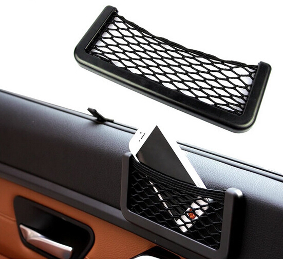 1PCS Extended upgrade automotive storage box net mobile phone box bag creative car size(China (Mainland))