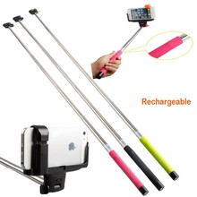 Free shipping Self-Shooting 7 Sections Foldable Wireless Mobile Phone Monopod Suits for ios android Smartphone Holder