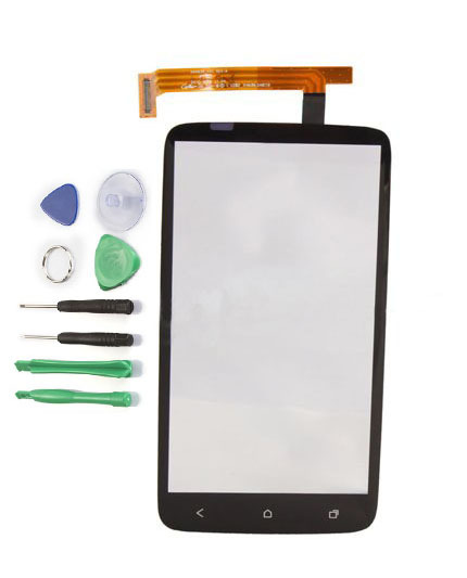 New Black Original LCD Touch Screen Panel Digitizer Glass Lens Replacement Parts for HTC One X S720e G23+ Free Tools