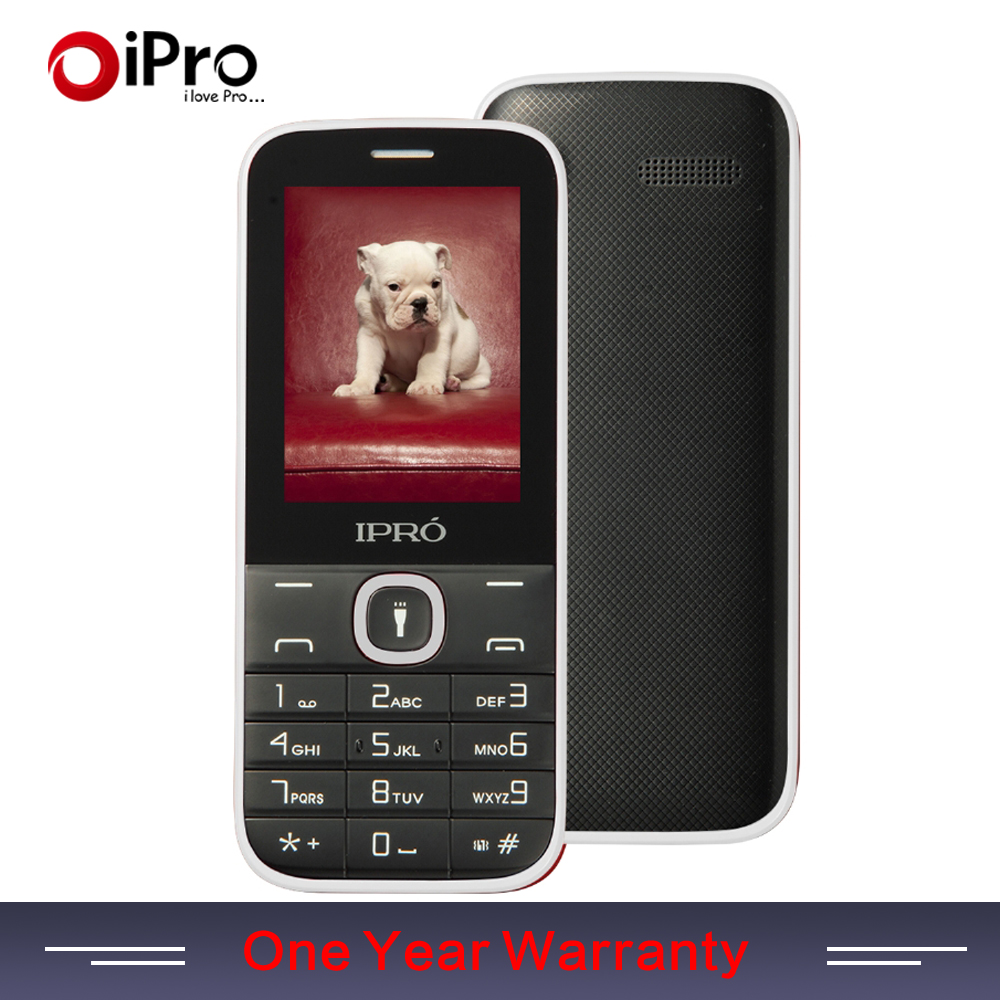 IPRO Brand Big Keyboard 2.4Inch Dual Card Slot GSM Unlock Mobile Phone With English Portuguese Spanish Telephone Parents Gift(China (Mainland))
