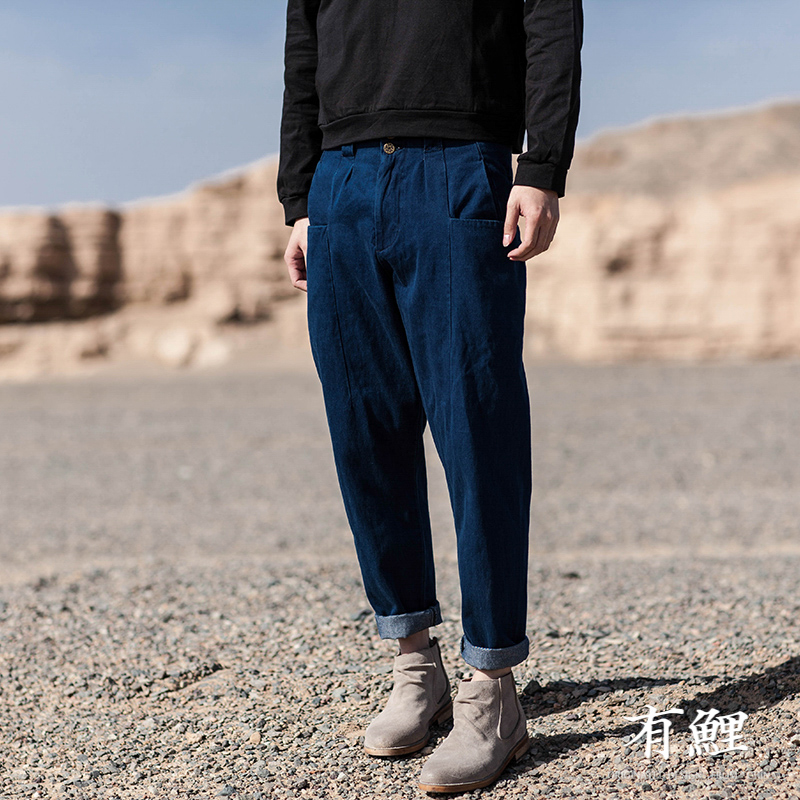Фотография There are China carp wind Haren jeans male slacks simple retro Mens pure spring of youth