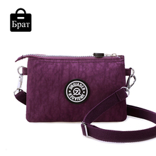 2016 clutch bag women messenger bags casual mini crossbody bag for girls waterproof nylon ladies handbags female high quality
