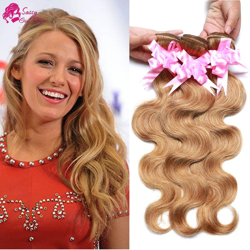 7a Grade Brazilian Virgin Hair Body Wave 3 Bundles 27 Honey Blonde Brazilian Hair Top Hair Extensions Blond Cheap Weave Online<br><br>Aliexpress