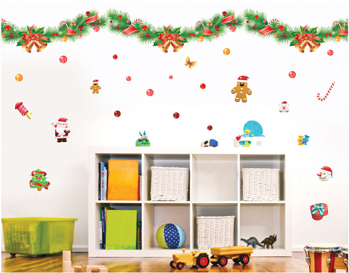 Free shipping wall sticker Merry Christmas happy festival wish you have a nice happy wonderful Christmas(China (Mainland))