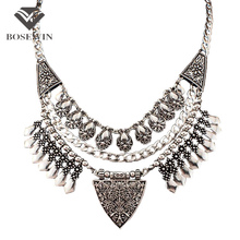 Bohemia Chic Design Fashion Necklaces For Women 2016 Vintage Carving Alloy Choker Statement Necklaces & Pendants Collares CE2882(China (Mainland))