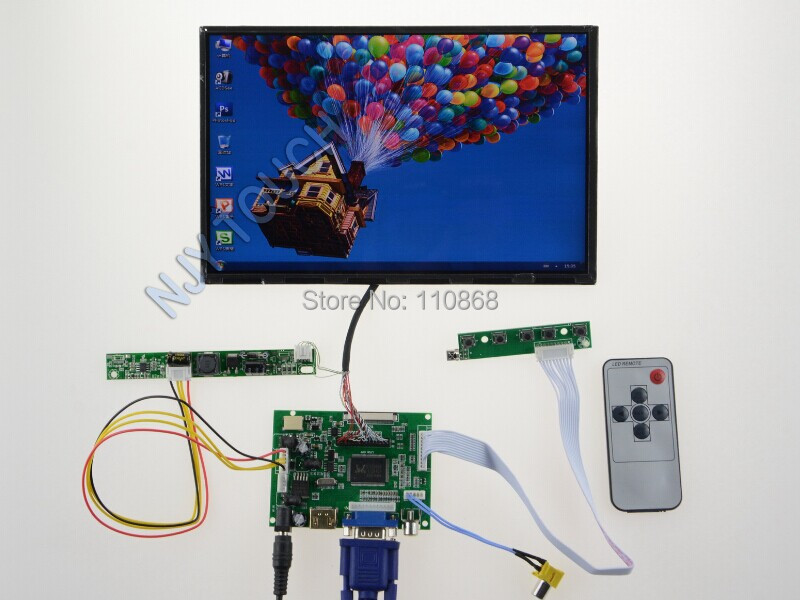 ЖК-модуль Njytouch HDMI + VGA + 2AV + 10.1 LED b101uan02.1 1920 * 1200 B101UAN02.1+ Controller Board kit rtd2668 universal hdmi vga audio lcd controller board kit for 15 6 inch n156bge l41 1366x768 lvds monitor kit easy to diy