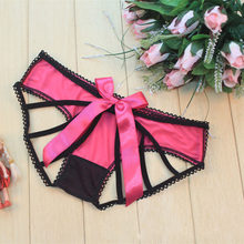 Women's Sexy Short Back G-string T-back hollow out bowknot Underwear for women sexy panties women sexy lingerie