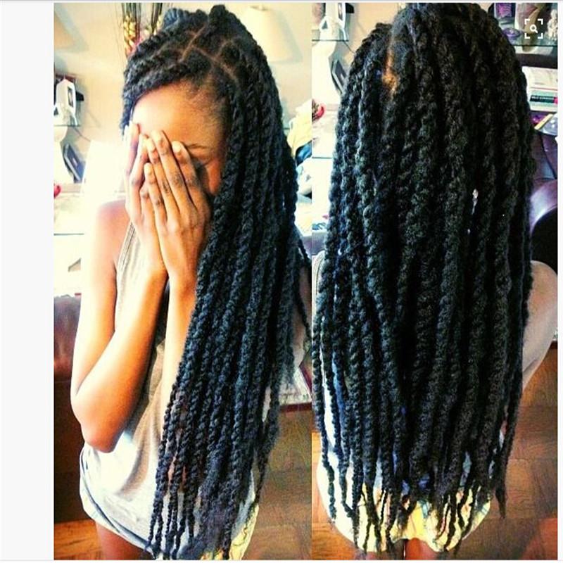 kanekalon braiding hair black color havana mambo twist braiding hair for USD5 one piece free shipping<br><br>Aliexpress