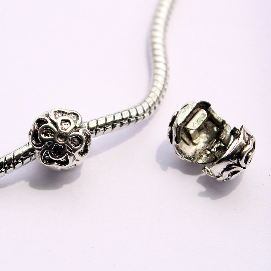1pcs freeshipping alloy flower safety stopper fit