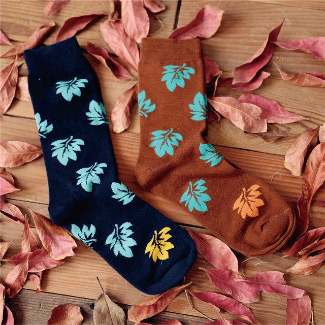 2015 нью-harajuku кленовый лист с длинным носки женские мужская баскетбольная спортивная носок новый творческий любители носки для женщин мужчин