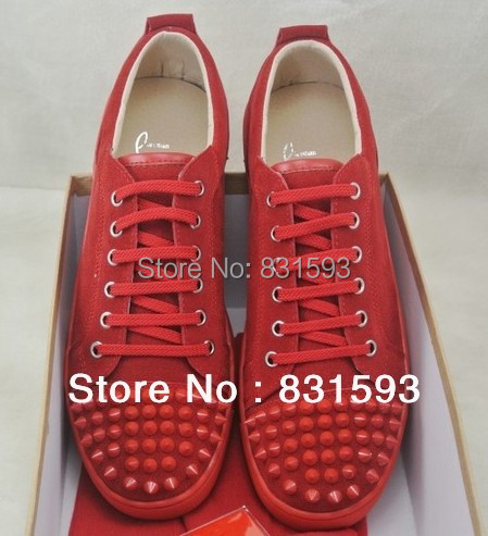 Aliexpress.com : Buy red bottom shoes for men spike cheap name ...