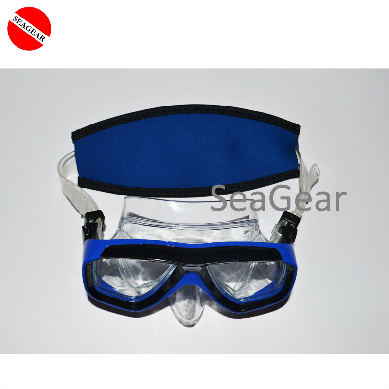 SCUBA mask strap neoprene fabric blue snorkeling goggles Diving Mask long hair cover protector water sports(China (Mainland))