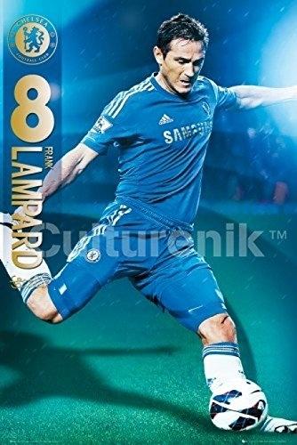 Chelsea FC Frank Lampard 2012-2013 Poster Print,(22 x 34) Plastic Cloth(China (Mainland))