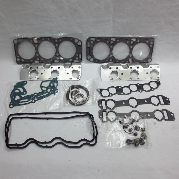 Hot sale 1set MD997496 Metal Rubber Complete 6G72 12V auto car engine full cylinder head gasket set repair for mitsubishi pajero(China (Mainland))