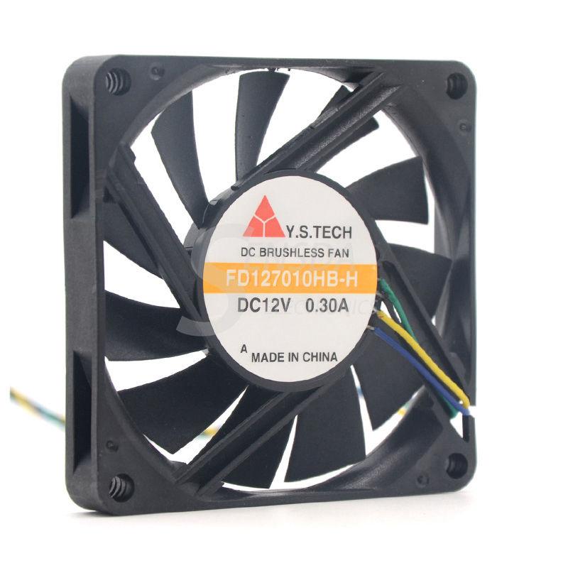 Y.S.TECH FD127010HB-H 7010 70mm x 10mm Cooler Cooling Fan 12V 0.30A 4Pin