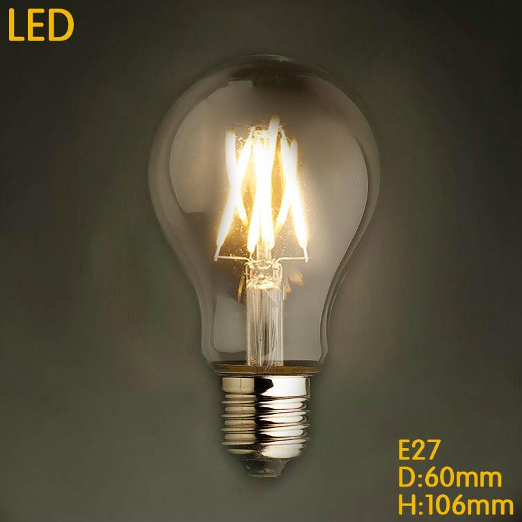Lampada Bombilla Vintage Edison Bulb Light 4W/6W/8W A19 E27 220V LED Retro Lamp Lampara Incandescent Carbon Filament Bulb(China (Mainland))