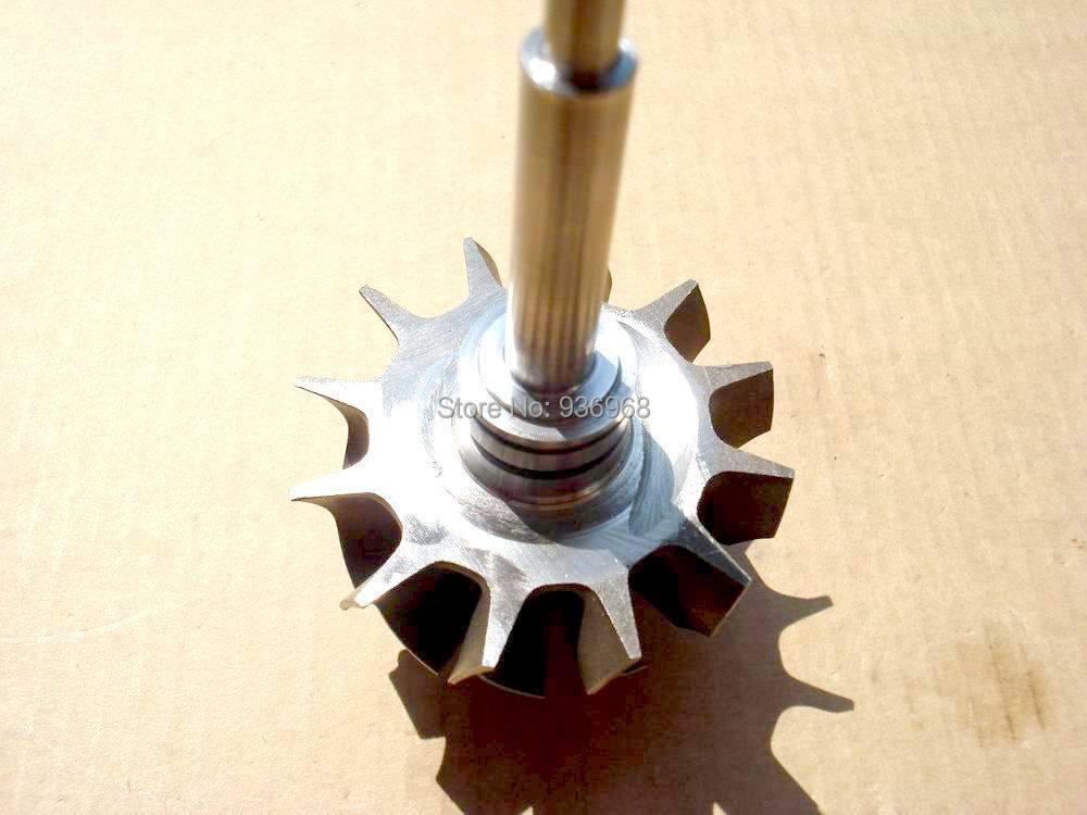 Турбина TD04 вал и колеса размер 40 мм * 47.4 мм для турбо замена турбо частей 49177-30120, 49177-00600 AAA частей турбокомпрессора