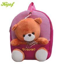 New 2015 Children School Bags Cartoon Bear Backpack For Baby Mochila Infantil Retail 1PC ZZ3056(Hong Kong)