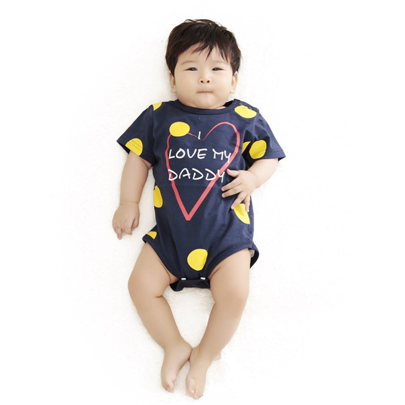 2016 Newest Love Papa Mama Printed Baby Boy Girl Clothes Infantil Romper Newborn Coveralls Next Bebes Jumpsuits Rompers(China (Mainland))