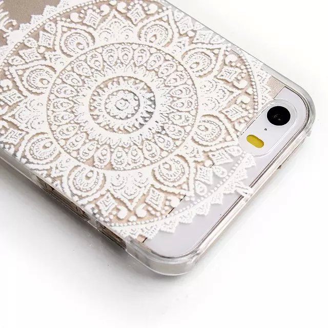 Luxury Henna mandala flower Painted pattern Hard Floral Paisley Plastic Case Shell Cover For Apple iphone 5 5s 5/5s