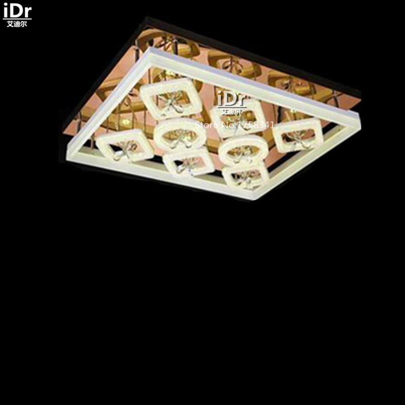 New Rose gold at the end modern living room restaurant lights led rectangular acrylic lamps Ceiling Lights L950xW750mm(China (Mainland))