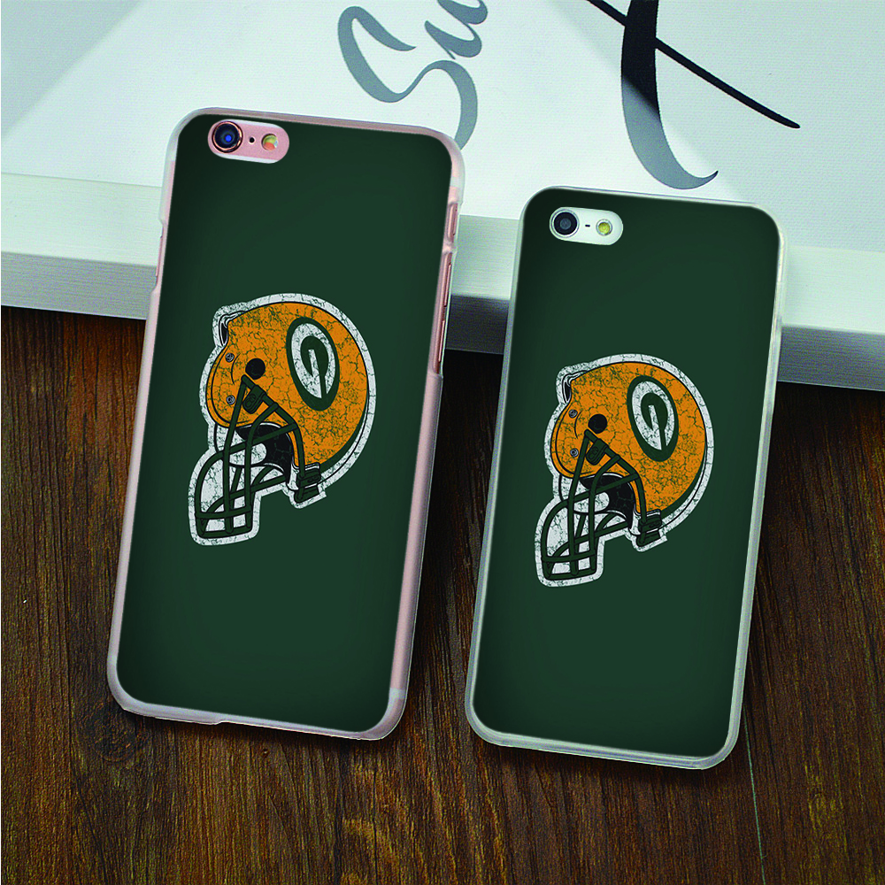 the green bay packers hard transparent Case for iPhone 4 4s 5 5s 5c 6 6s 6 Plus 6s Plus phone cover shell(China (Mainland))