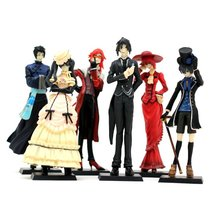 Black Butler Kuroshitsuji figures toys 6pcs set 12cm new Cartoon & Anime character