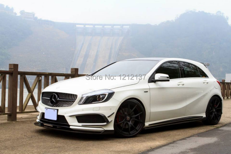 Side Skirts Extension Designed Mercedes Benz Class W176 A45/A250/A260 Revozport Style Carbon Fiber Material  -  XUAN XING Auto Parts Co.,LTD store