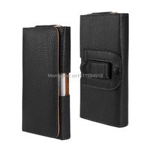 1PCS Fashion PU Leather Belt Clip Skin Pocuh Cover Case for iPhone 6 Plus 5.5″ Cellphone Holder Black Color New Style
