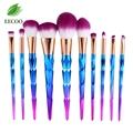7pcs 10pcs Colorful Plating makeup brushes Set Foundation Cream Concealer Eyshadow Blush Powder make up brushes