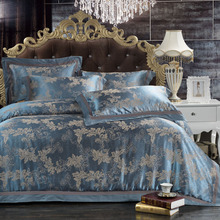 bedding set 4pcs bedclothes bed linen edding sets Silk Jacquard Cotton Bed-Clothes Bedding bed set Duvet Cover sheet parure de(China (Mainland))