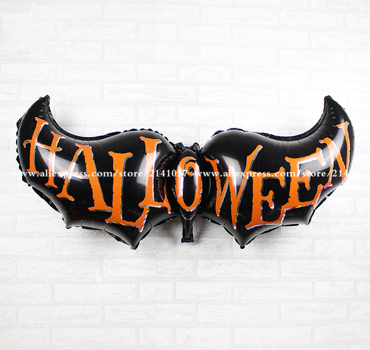 10pcs free shipping new 50129cm aluminum balloons wholesale bat halloween decoration party balloons children