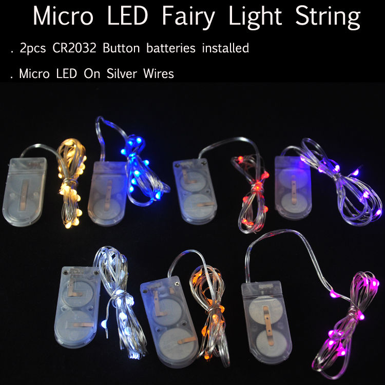 10pcs/lot Battery Operated 2M 20LEDs Micro LED Fairy Vine lights For Wedding Party Events Home Xmas Decoration(China (Mainland))