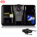 Latest 7 inch GPS Navigation Android GPS DVR Rear View Dual Camera 16G Disk Radar Detector