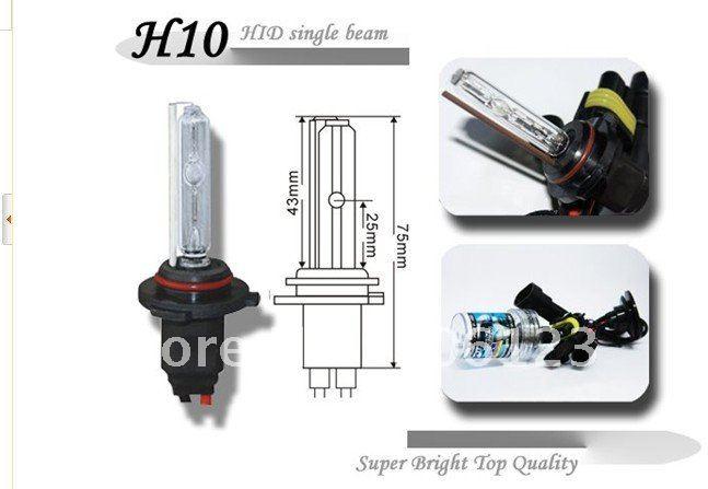 H10 car bulb special offer free shipping hid headlights xenon bulb light 3000k 4300k 5000k 6000k 8000k 10000k 15000k 20000k(China (Mainland))