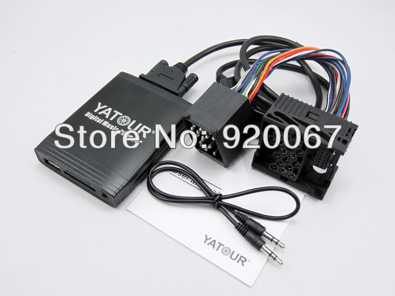 store product For Yatour BMW P  round pin audio adapter interface MP USB SD AUX Bluetooth