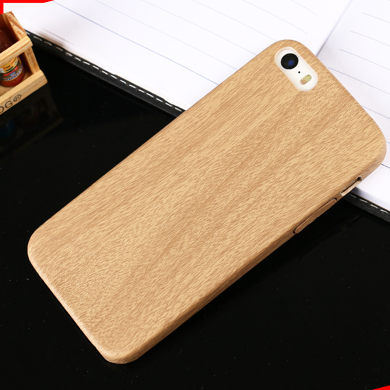 Luxury Wooden Pattern Leather Cover For Apple iPhone 6 Case Wood Grain Soft Back Shell Phone Cases For iphone6 6S 4.7 INCH(China (Mainland))
