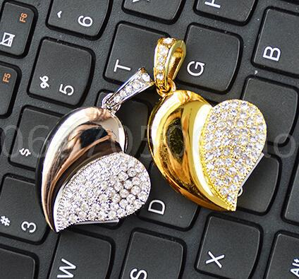 Love fashion and individuality and creative business gift USB flash drive diamond metal R Crystal Pen Drive Memory Card Pendrive(China (Mainland))