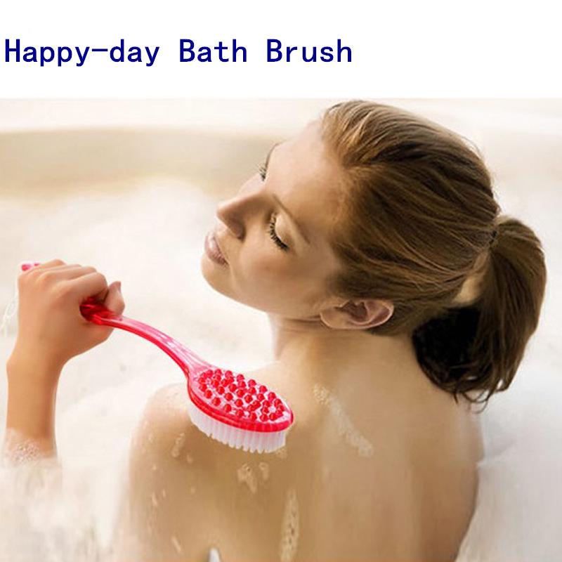 3pcs 2015 New Arrival Long Handle Body Clean Bath Brushes Shower Back Brush Scrubber Massager Disability Helper Bath Sponge(China (Mainland))