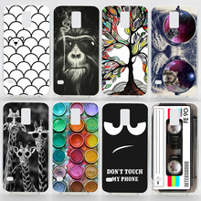 Case For Samsung Galaxy S5 i9600 Transparent Coloured Drawing Phone Cover For Samsung Galaxy S5 Plastic Hard Phone Cases