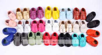 24 цвета натуральная кожа мягкий младенцы обувь первые ходоки малыша младенцы мокасины ...