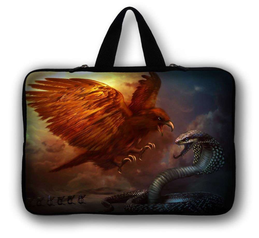 "12"" Eagle Snake Laptop Soft Carry Sleeve Bag Case For Samsung Google 11.6"" Chromebook,11.6"" Samsung ATIV Smart PC 500T 700T(China (Mainland))"