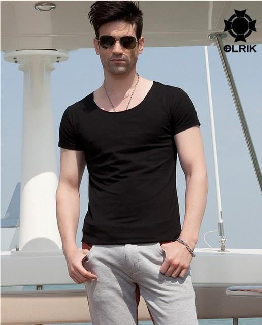 Hot sale!! Men's short sleeve round collar T-shirt 2013summer
