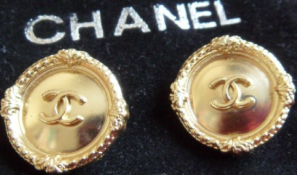 2015 New Wholesale10 Pieces cc coco Jacket button gold High-grade metal coat buttons 20mm Clothing Accessories Free shipping(China (Mainland))
