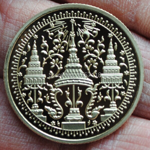 Gold Coin Currency Coin Currency Thai Buddha