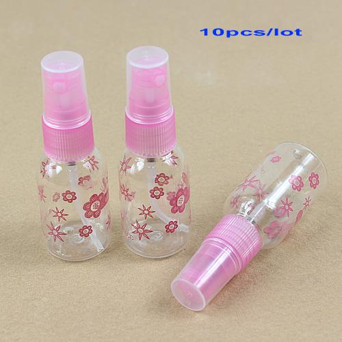 10Pcs/Lot 30ML Empty Plastic Transparent Perfume Atomizer Spray Mini Bottles Free Shipping(China (Mainland))