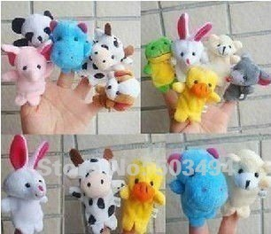 5sets Cartoon Animal Finger Puppet,Finger toy,finger doll,baby dolls,Baby Toys,Animal doll Free Shipping (10pcs/bag)