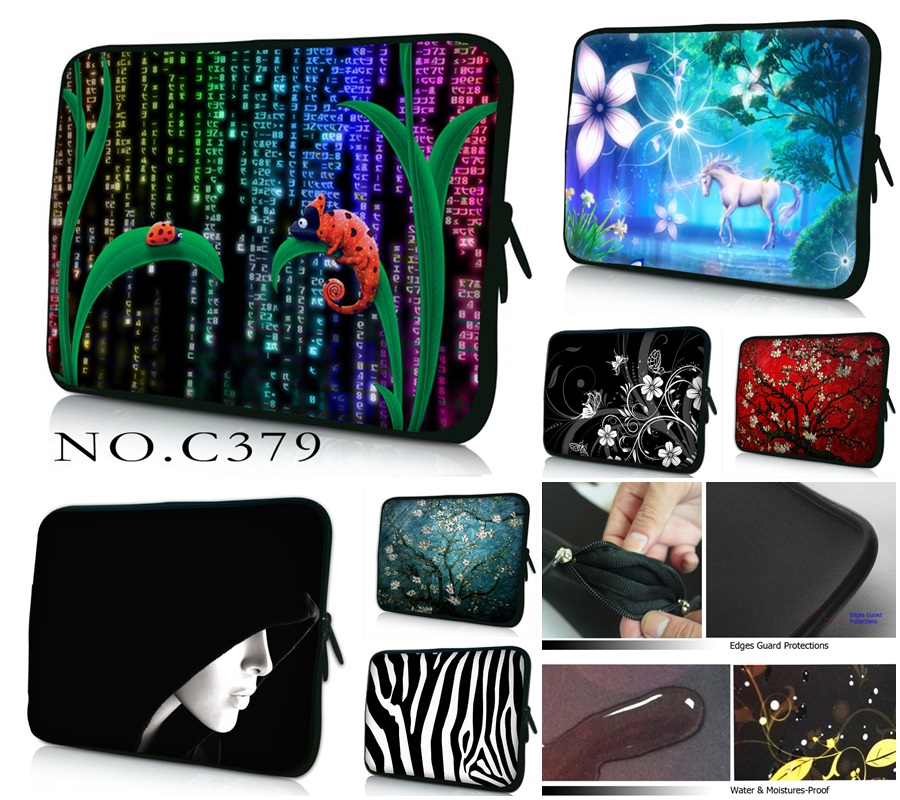 Cute PC Bag 10 11.6 12 12.1 13 13.3 15 15.6 17 17.3 Laptop Bag For Women Sleeve Case Tablet Briefcase Netbook Protective Pouch(China (Mainland))