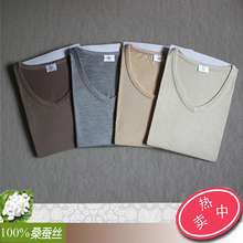 100% level of 2014 autumn winters spun silk Men's silk underwear suits Pajamas render 22 w01 outfit (China (Mainland))